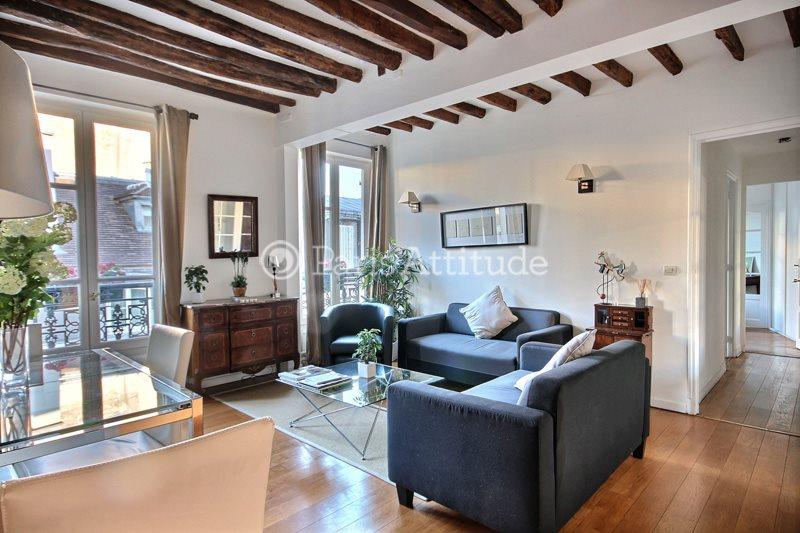 Rent furnished Apartment 2 Bedrooms 68m² rue du Pas de la Mule, 75004 Paris