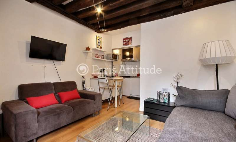 Rent Apartment Studio 24m² rue Quincampoix, 75004 Paris