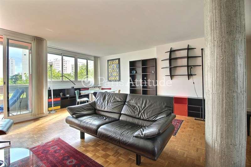 Rent furnished Apartment 1 Bedroom 84m² boulevard Auguste Blanqui, 75013 Paris