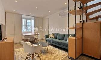 Rent Duplex 2 Bedrooms 56m² rue etienne Marcel, 2 Paris