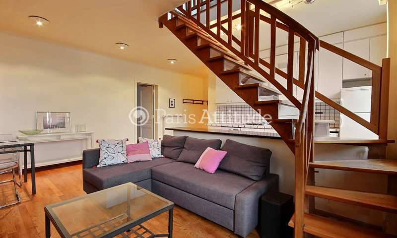 Rent Duplex 2 Bedroom 80m² rue des Francs Bourgeois, 75003 Paris