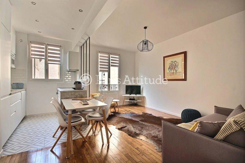Rent furnished Apartment 2 Bedrooms 47m² boulevard Voltaire, 75011 Paris