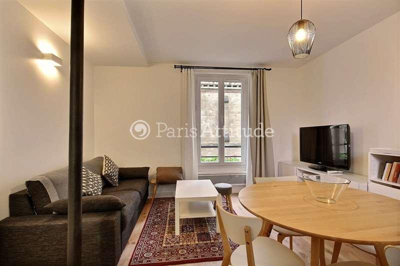 Louer Appartement meublé 1 Chambre 38m² rue Lassus, 75019 Paris