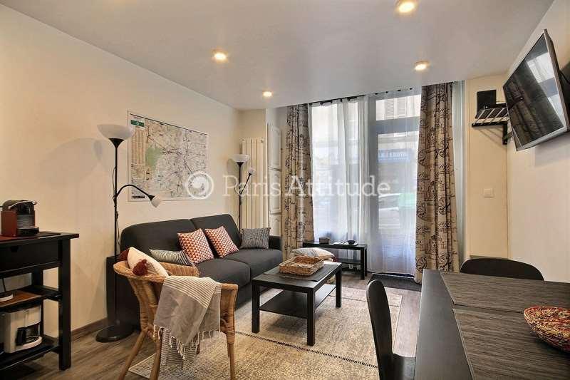 Louer Appartement meublé 1 Chambre 32m² rue Ganneron, 75018 Paris