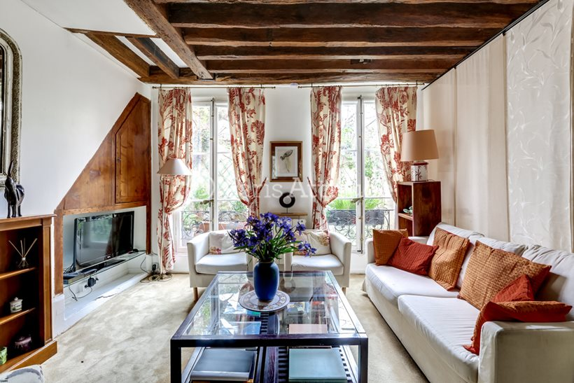 Rent furnished Duplex 2 Bedrooms 53m² rue Jacob, 75006 Paris