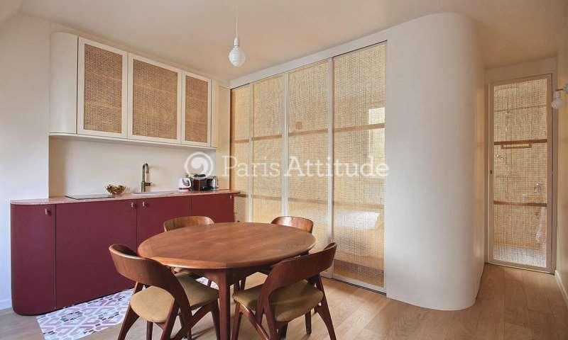 Location Appartement Studio 20m² boulevard de Clichy, 18 Paris