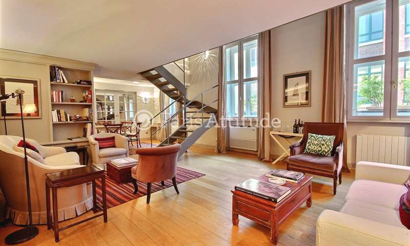Rent Duplex 3 Bedrooms 105m² rue de Vaugirard, 6 Paris