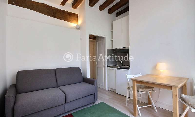 Rent Apartment Studio 14m² rue de la Bûcherie, 75005 Paris
