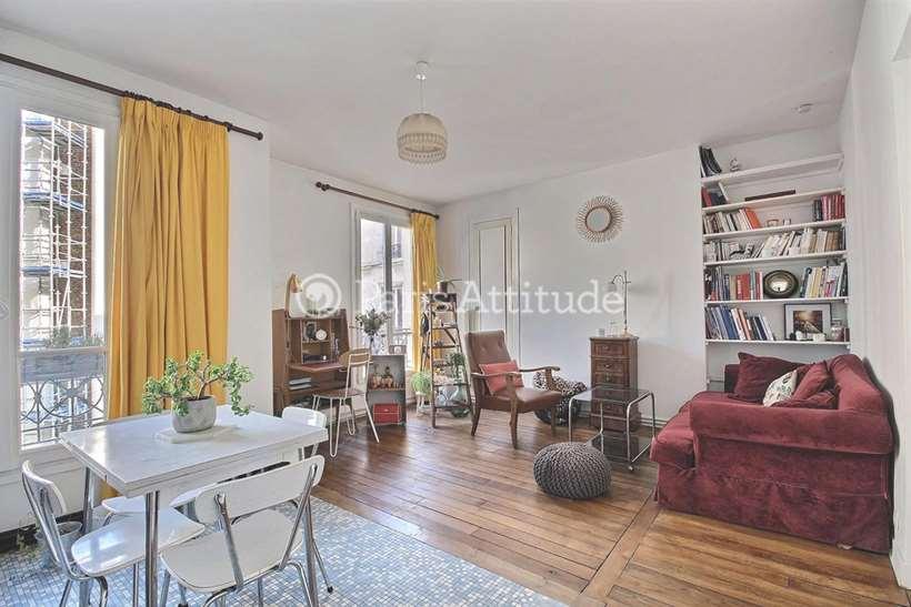 Rent furnished Apartment 1 Bedroom 46m² boulevard Ornano, 75018 Paris