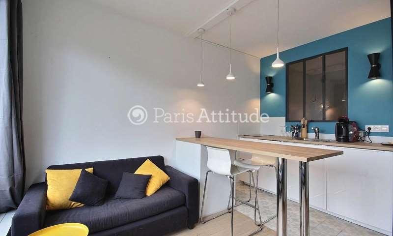 Rent Apartment Alcove Studio 27m² rue de Lourmel, 15 Paris