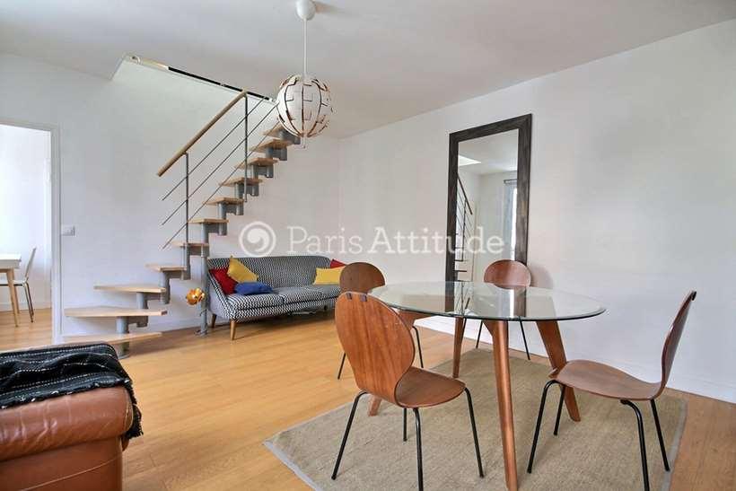 Rent furnished Duplex 2 Bedrooms 50m² avenue du Maine, 75014 Paris