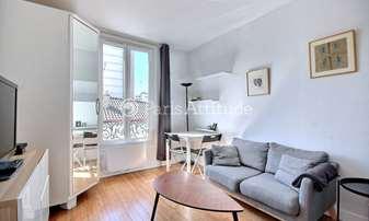 Rent Apartment Alcove Studio 24m² passage Dagorno, 20 Paris