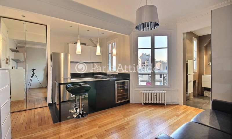Location Appartement Studio 26m² boulevard Pereire, 17 Paris