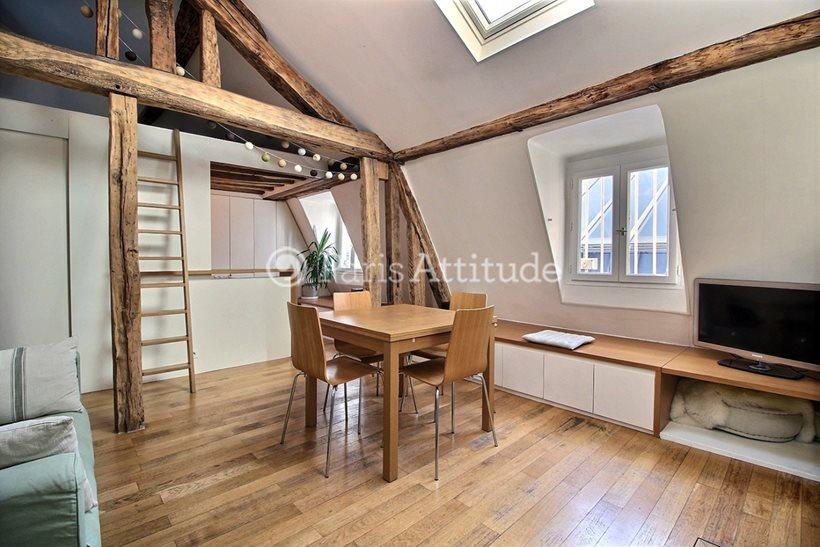 Rent furnished Apartment 2 Bedrooms 58m² passage Choiseul, 75002 Paris