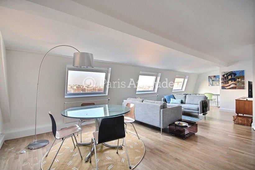 Rent furnished Apartment 2 Bedrooms 66m² avenue Franco Russe, 75007 Paris