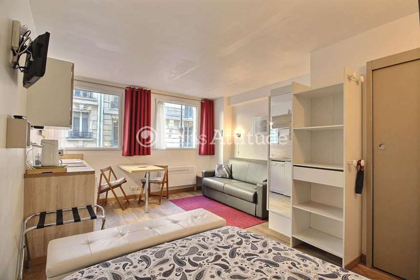 Rent furnished Apartment Studio 22m² rue Boissiere, 75016 Paris