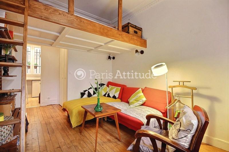 Rent Apartment Studio 18m² Villa Damrémont, 75018 Paris