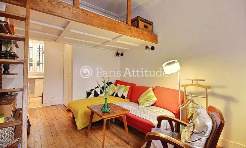 Rent Apartment Studio 18m² Villa Damrémont, 18 Paris