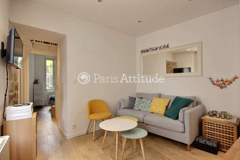 Rent furnished Apartment 1 Bedroom 25m² rue Capron, 75018 Paris