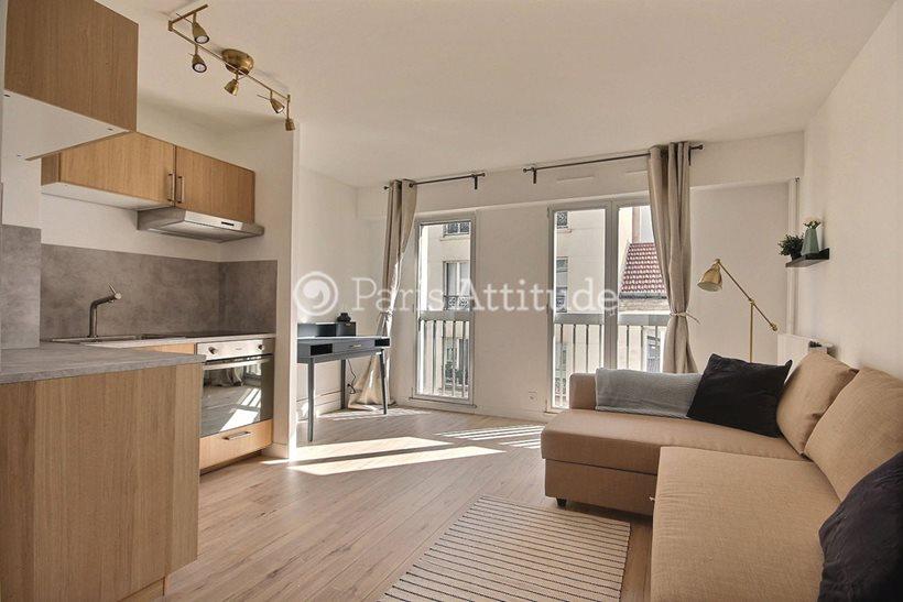 Rent furnished Apartment Studio 27m² rue Bachelet, 75018 Paris