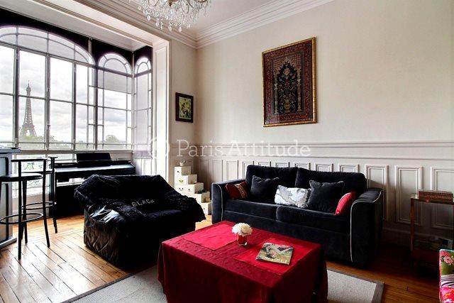 Rent furnished Apartment 2 Bedrooms 79m² rue Maurice Bourdet, 75016 Paris