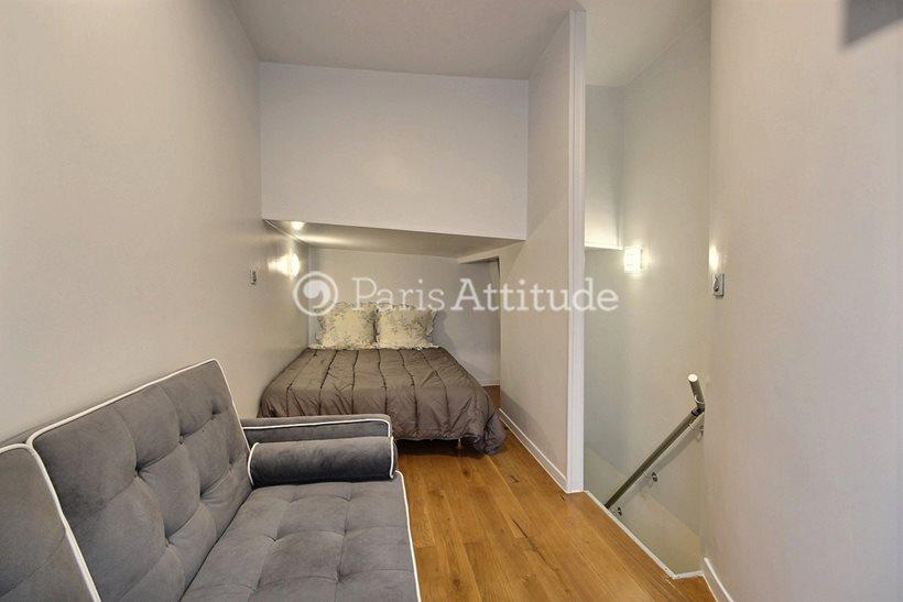 Rent furnished Apartment Alcove Studio 21m² rue de Belleville, 75020 Paris