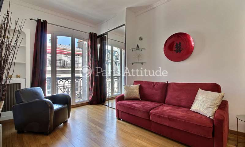 Rent Apartment Studio 26m² boulevard de la Madeleine, 9 Paris