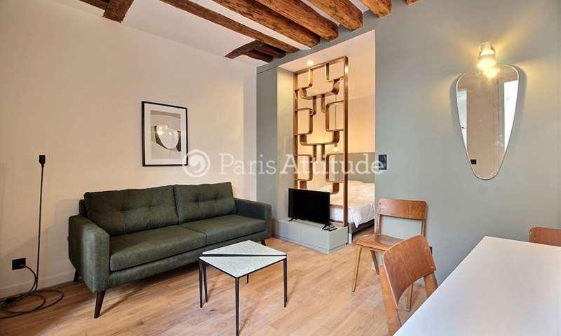 Rent Apartment Alcove Studio 26m² rue Sauval, 1 Paris