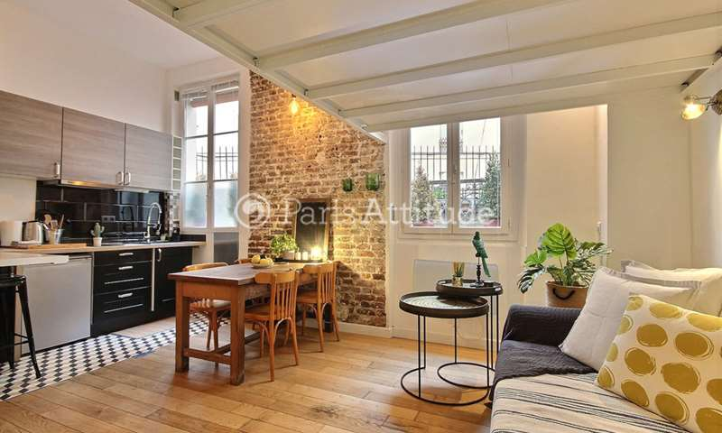 Location Appartement Studio 28m² rue du Baigneur, 18 Paris