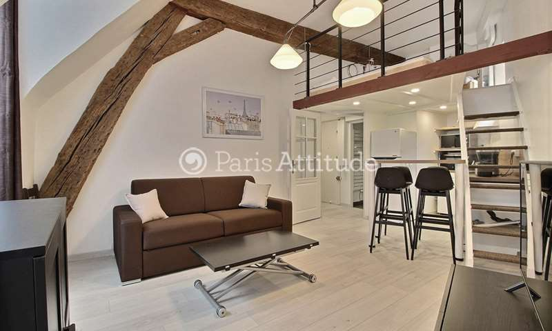 Rent Apartment 1 Bedroom 35m² rue Beaubourg, 3 Paris