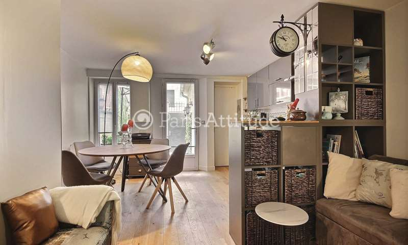 Rent Apartment 1 Bedroom 30m² cité Germain Pilon, 75018 Paris