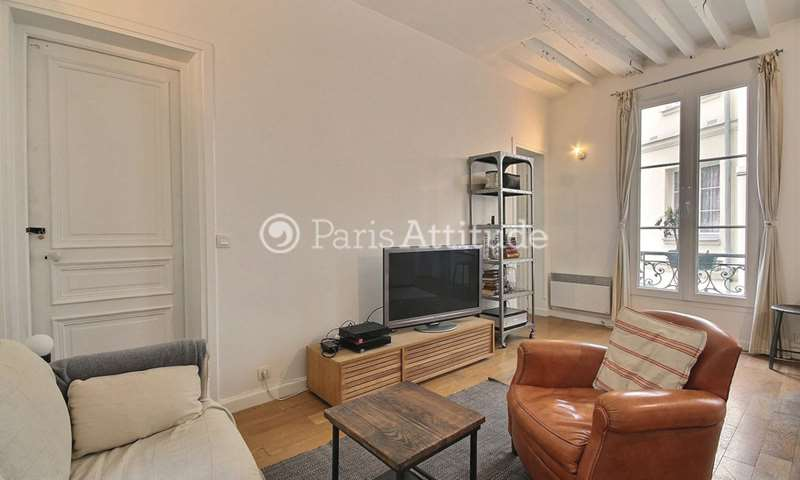 Rent Apartment 1 Bedroom 45m² rue de Saintonge, 3 Paris