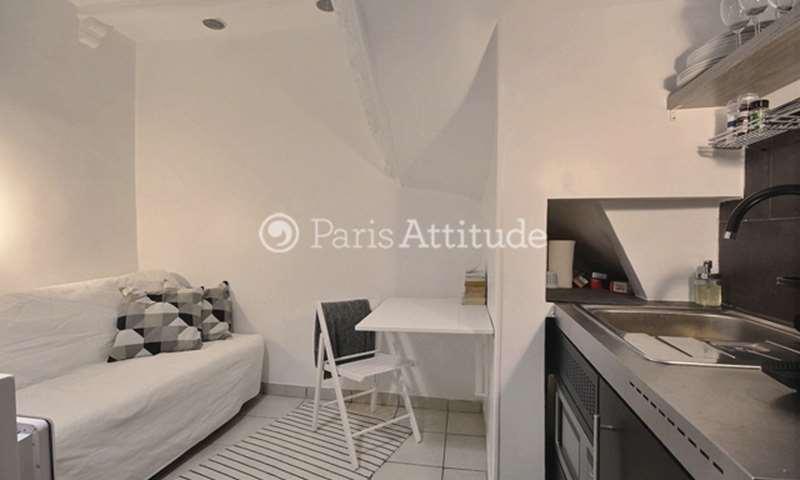 Rent Apartment Studio 14m² rue du Faubourg Saint Martin, 10 Paris