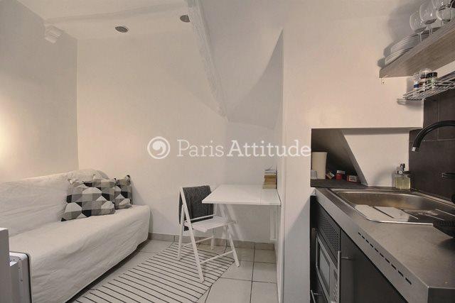 Rent furnished Apartment Studio 14m² rue du Faubourg Saint Martin, 75010 Paris