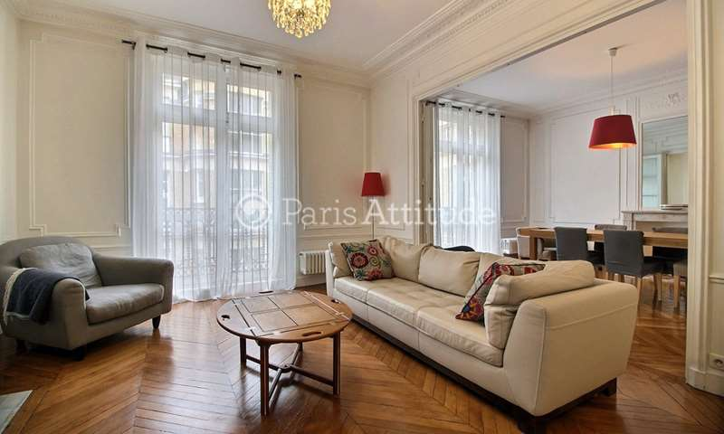 Rent Apartment 3 Bedrooms 117m² rue Ampere, 17 Paris