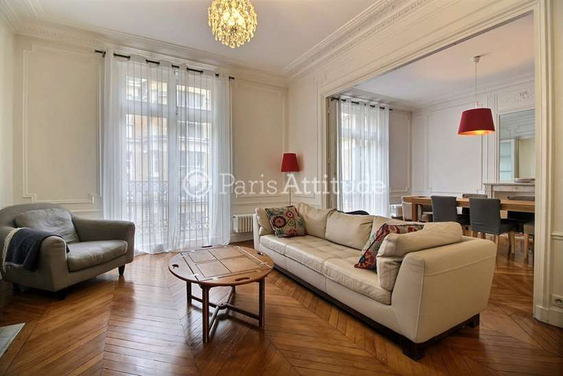 Rent furnished Apartment 3 Bedrooms 117m² rue Ampere, 75017 Paris