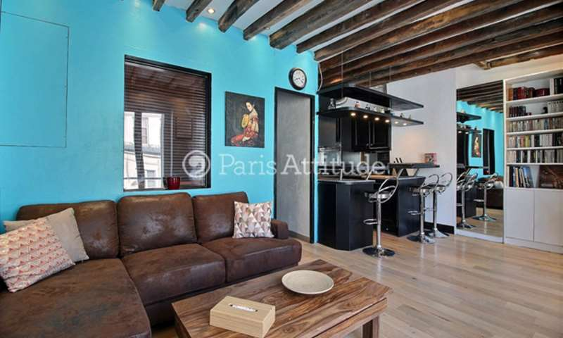 Rent Apartment 1 Bedroom 30m² Quai d Anjou, 4 Paris