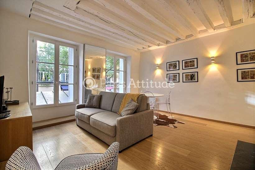 Rent furnished Apartment 1 Bedroom 34m² rue de Bretagne, 75003 Paris