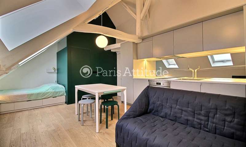 Location Appartement Studio 18m² rue Meslay, 3 Paris