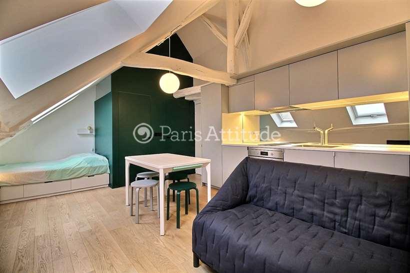 Louer Appartement meublé Studio 18m² rue Meslay, 75003 Paris