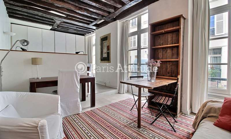 Rent Apartment Studio 38m² rue du Foin, 3 Paris