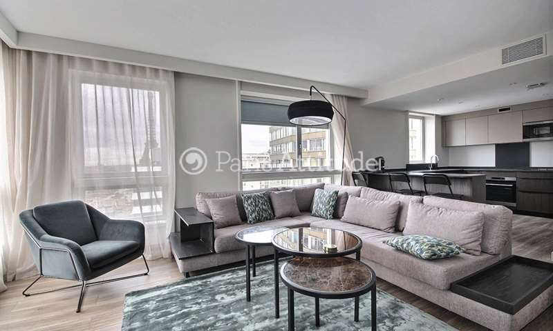 Rent Apartment 2 Bedrooms 85m² quai de Grenelle, 15 Paris