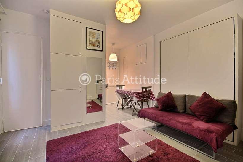 Rent furnished Apartment Studio 20m² rue Durantin, 75018 Paris