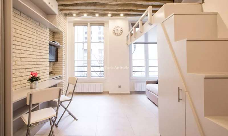 Rent Apartment Studio 20m² rue Simon Le Franc, 75004 Paris