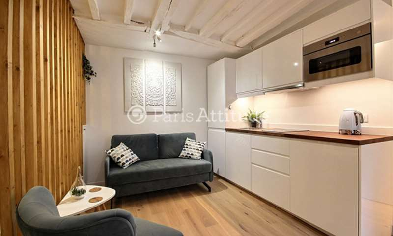 Location Appartement Studio 24m² rue Quincampoix, 75004 Paris