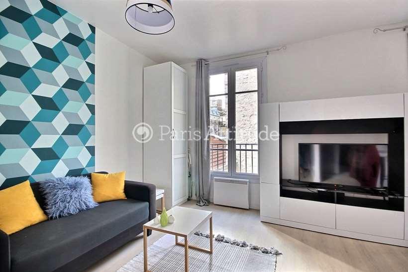 Rent furnished Apartment Studio 27m² rue Saint Jean, 75017 Paris
