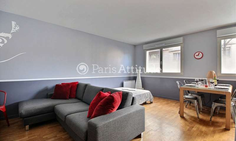 Rent Apartment 1 Bedroom 46m² rue Joseph Kosma, 19 Paris