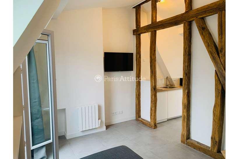 Rent furnished Apartment Studio 18m² rue Rochebrune, 75011 Paris