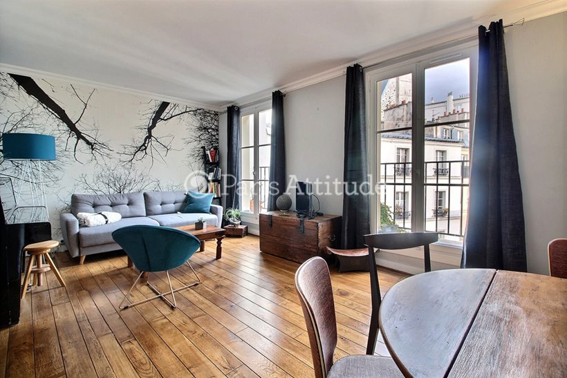 Rent furnished Apartment 1 Bedroom 49m² cite Dupetit Thouars, 75003 Paris