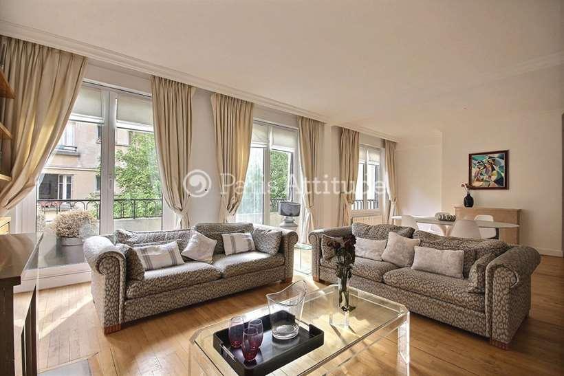 Rent furnished Apartment 3 Bedrooms 119m² square Mignot, 75016 Paris